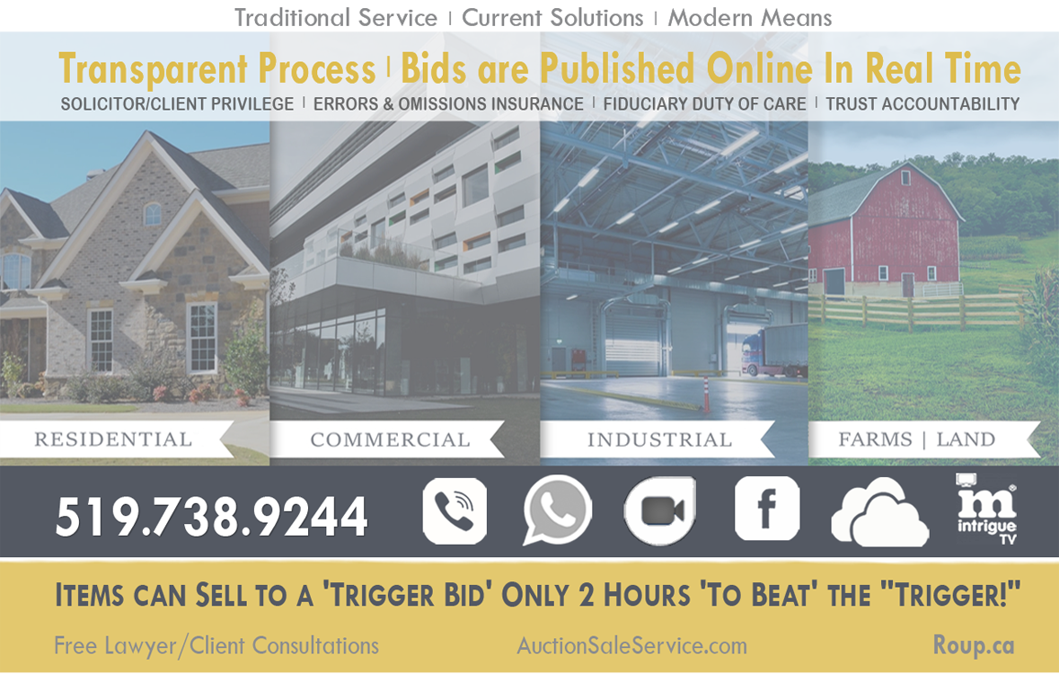 roup sale auction house real estate for sale Windsor Leamington Amherstburg Residential Commercial
